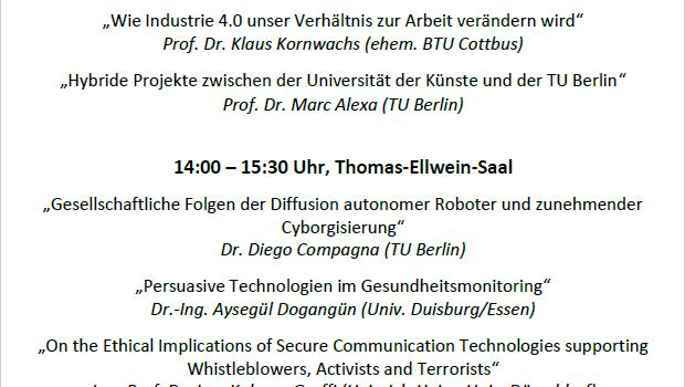 """Einladung zur Konferenz """"Mensch, Technik und Gesellschaft"""""""