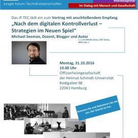 """Einladung zum Vortrag: """"Nach dem digitalen Kontrollverlust – Strategien im Neuen Spiel"""""""